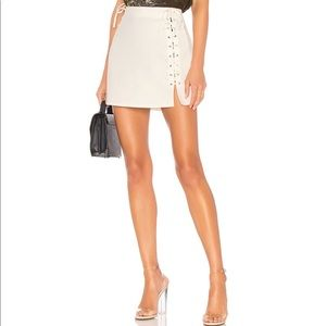 By the way lani lace up skirt